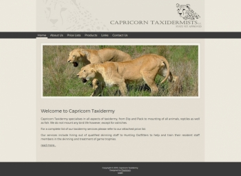 Capricorn Taxidermy Website