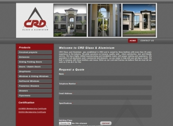 CRD Glass Website