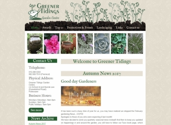 Greener Tidings Website